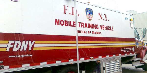 Photo of an FDNY Mobile Training Vehicle